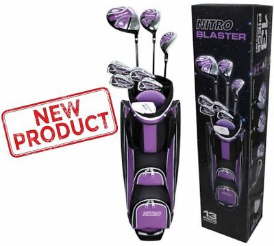 13 Piece Ladies Golf Club Set Right Handed Nitro Titanium Complete Clubs Bag NEW