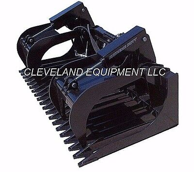 84 Extreme-duty Skeleton Rock Grapple Attachment Skid-steer Loader Tine Bucket