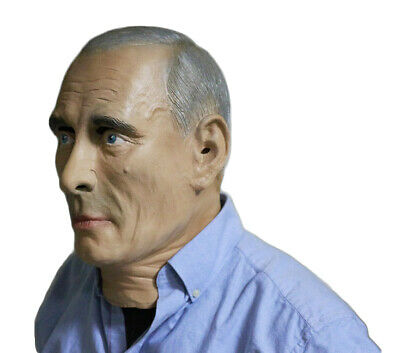 COMLZD Adult Male Human Realistic Mask Halloween Full Overhead Face Latex Mask
