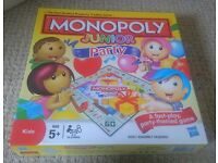 BRAND NEW MONOPOLY JUNIOR PARTY GAME from Smoke & Pet Free Home