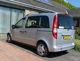 2003 Mercedes Benz Vaneo Ambiente wheelchair accessible vehicle. 1.6 petrol automatic.