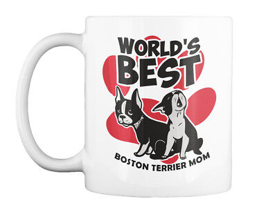 Boston Terrier Puppies Moms - World's​ Best Mom Gift Coffee