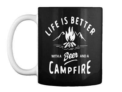 Campfire I Camping - Life Is Better With A Beer And Gift Coffee