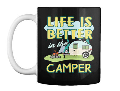 Life Better Camping S Tops Gift Coffee