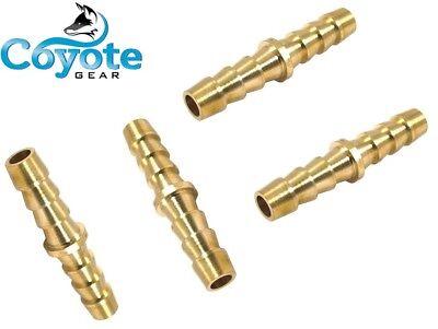 4 Pack Lot 14 Brass Hose Barb Fitting Splicer Mender Coupling Coyote Gear