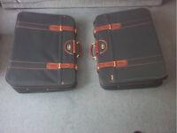 2x Antler green suitcases