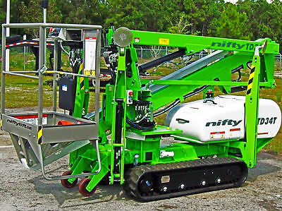 Nifty Td34t 40 Track Boom Liftonly 43widein Stock In Fl.delivery By Year End