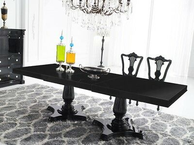 Dining Table - Modern Dining Room Table - Solid Birch Wood - Black Dining Table Birch Dining Room Table