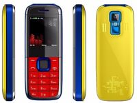 Unlocked mini 5130 cell phone mobile smart phone - Yellow