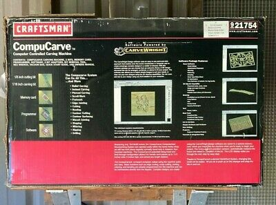 Craftsman Compucarve Wood Plastic Carving Cnc Machine Free Shipping