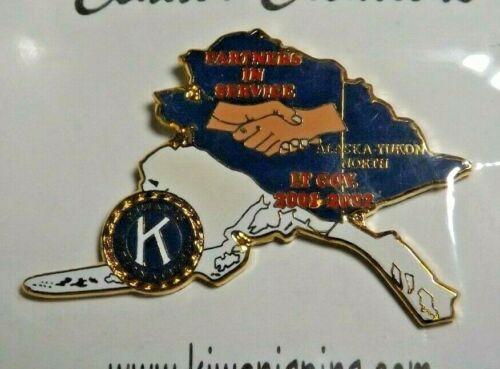 Kiwanis International Alaska Yukon North 2001 2002 Lt. Gov. Lapel Pin Partners