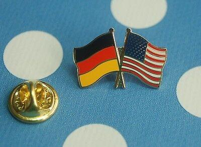 Freundschaftspin Deutschland USA Amerika Pin Button Badge Anstecker Flaggenpin