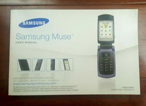 Samsung Muse Mobile Flip Phone User Manual 2008 GH68-17192A English Spanish
