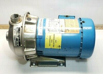 Goulds Stainless 1 X 1 14-6 Centrifugal Pump 208-230460v 12 Hp 24.5 Gpm 1st2c