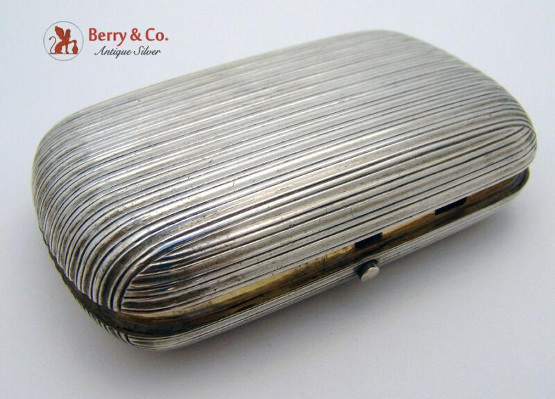 Russian 84 Standard Silver Cigarette Case Moscow 1883