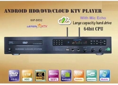 Android KTV-8878E-V2-3TB Karaoke Player 3TB HARDDRIVE Load with 34656 Vietnamese Songs