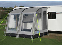 Caravan Awning Kampa Rally 260 with optional Monsoon Poles and Rear Upright Supports...never used!