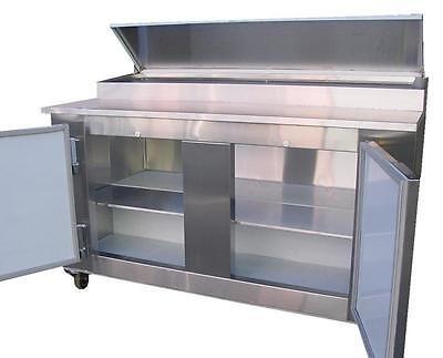 Coolman Commercial 2- Door Refrigerated Pizza Prep Table 60