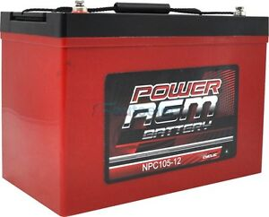 105AH-AMP-HOUR-BATTERY-AGM-SLA-12-VOLT-12V-DEEP-CYCLE-DUAL-FRIDGE-SOLAR-100AH
