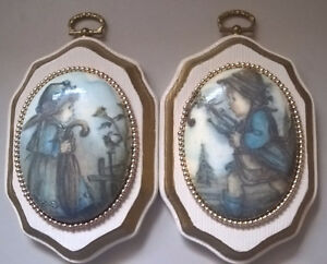 Antique Wooden Oval Wall Hangings French Country Art