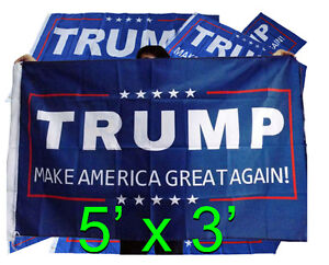 TRUMP 5' Campaign Flags - Both for $20