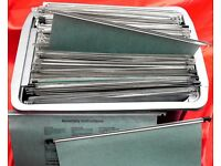 100 x Green Foolscap Hanging Suspension Files for Filing Cabinet Folders