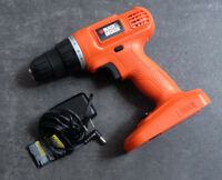 Black & Decker Variable Speed Drill 18V Model GC1800 and Charger