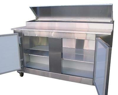 Coolman Commercial 2- Door Refrigerated Pizza Prep Table 60