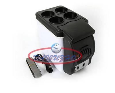 12v 6L Compact Refridgerator Cooler Warmer Mini Fridge Car Small Refrigerator