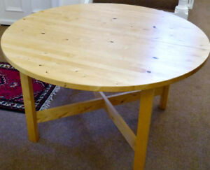 extendable birch table from Ikea