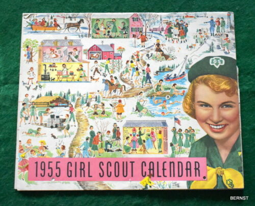 VINTAGE GIRL SCOUT - 1955 GIRL SCOUT CALENDAR - 1959 ROUNDUP