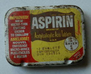 Bayer Aspirin dispenser