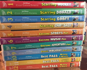 11 Walt Disney Classic Cartoon Favorites on DVD - Hard To Find !