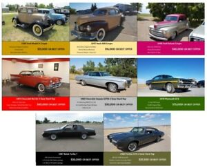 8 Classic Restored Vehicles For Sale - Collection