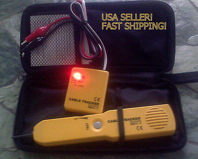 Classic Rj11 Line Finder Cable Wire Tone Generator Probe Tracer Tracker Tester