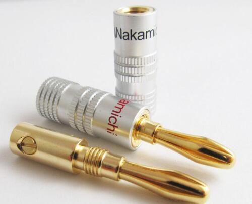 100xHigh-quality Nakamichi Gold Plated Copper Speaker Banana Plug Male Connector