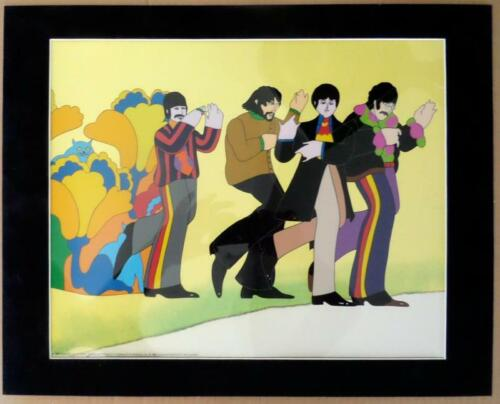 BEATLES ~ YELLOW SUBMARINE ~ 1999 ANIMATION CEL ~ MATTED READY TO FRAME!!!