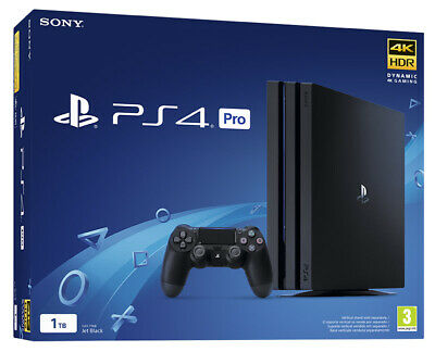 SONY PLAYSTATION 4 PS4 CONSOLE 1TB PRO GAMMA BLACK HDR Dualshock 4...
