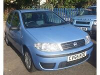 FIAT PUNTO 1242cc ACTIVE 8V 3 DOOR HATCH 2006-56, LOOK ONLY 2 FORMER KEEPERS AND 84K