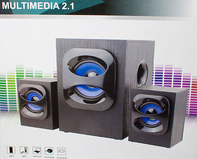 ALTAVOCES 2.1 PARA ORDENADOR PC PORTATIL MULTIMEDIA USB MP3 MP4 MOVIL ALTAVOZ
