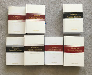 2011-2015 Ontario Annual Practice - Canada Law Books