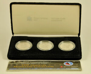 1997 Hockey Hall of Fame Inductee RCM 3-Coin Set Medallions