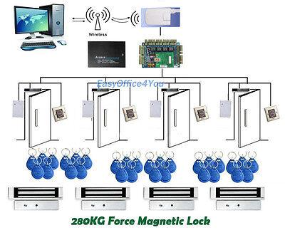Wireless Access Control System Rfid Proximity Security Control Kits4 Mag Locks