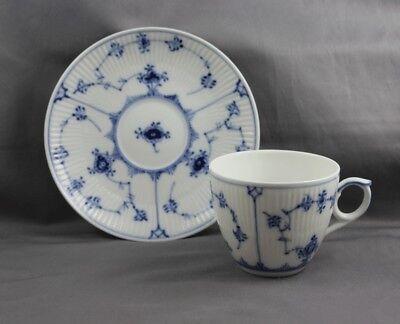 Royal Copenhagen Blue Fluted Plain Cup & Saucer (S) #79 1st Quality