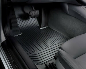 BMW OEM Black Rubber Floor Mats F&R 2011-2013 F10 Sedans 528i, 528iX 51472153725