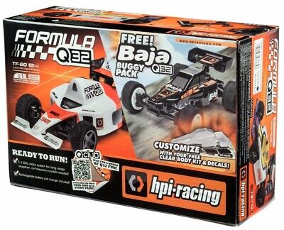 HPI Formula Q32 (RED) 1/32 RC Car + Free Buggy Conversion - Ready To Run 116710