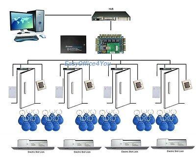 Diy 4 Door Access Control System Controllerkey Fobpowerelectronic Bolt Lock