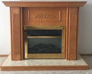 CUSTOM BUILT RED OAK ELECTRIC FIREPLACE