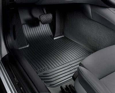 BMW OEM Black Rubber Floor Mats F&R 2014-2016 F10 Sedans 528i, 528iX 51472153725