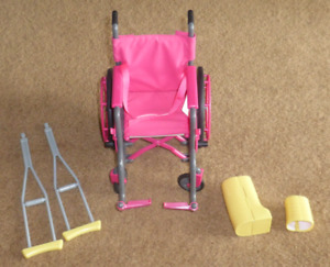 """18"""" Doll Wheel Chair and Accessories"""